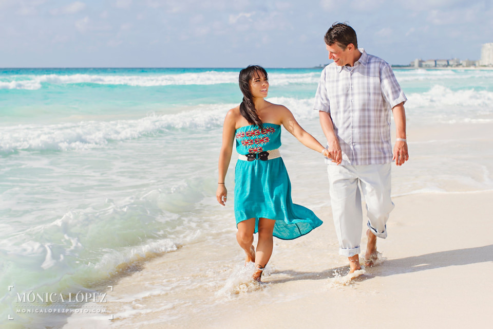 Cancun Engagement Portraits at Playa Delfines