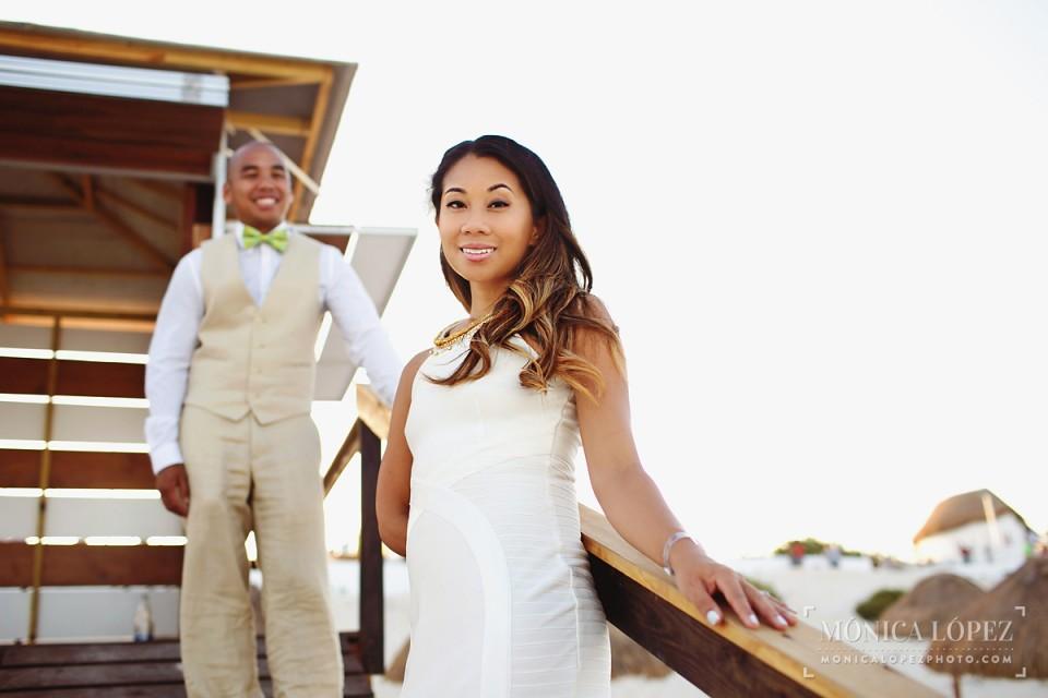 Cancun Vow Renewal Portraits at Playa Delfines, Mexico - Christina + Cyrus