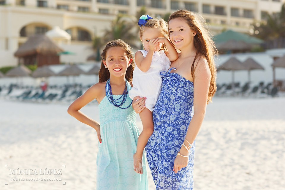 Family Beach Portraits at JW Marriott Cancun, Cancun, Mexico