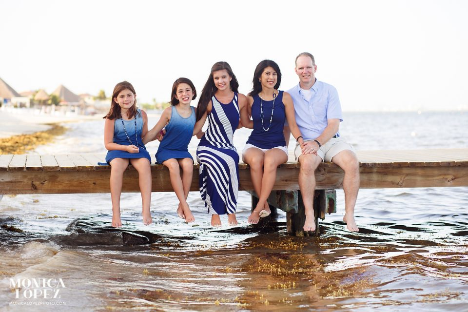 Moon Palace Family Beach Portraits by Monica Lopez Photography