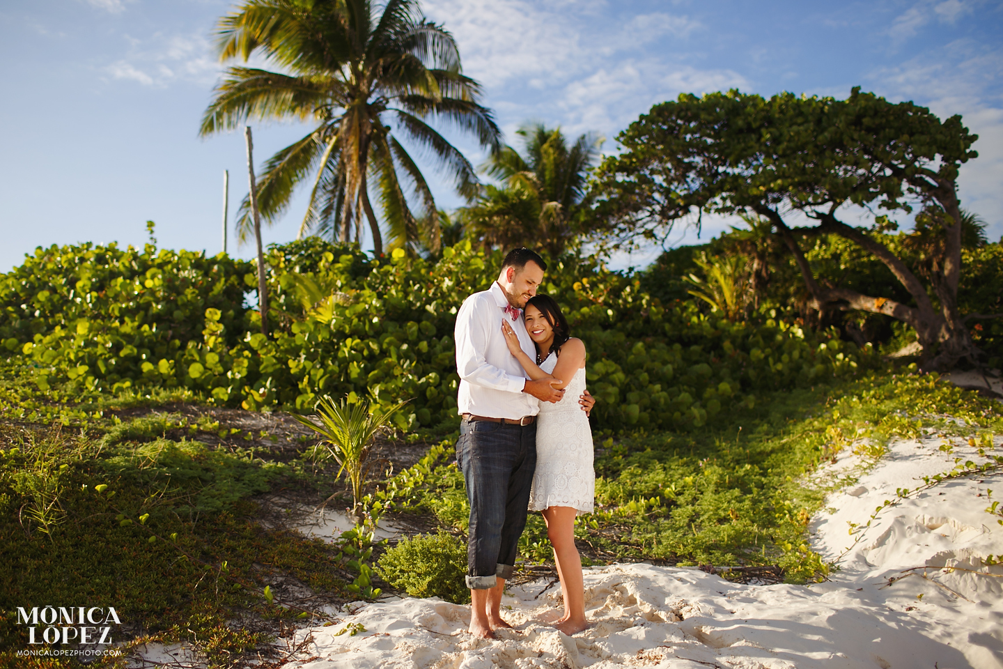 Engagement Portraits at Tulum by Monica Lopez Photography
